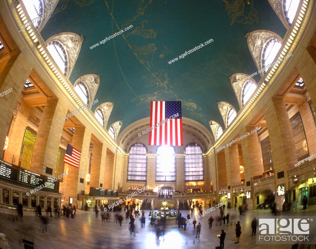 Stock Photo: Main Concourse, Grand Central Terminal, Manhattan, New York, USA.