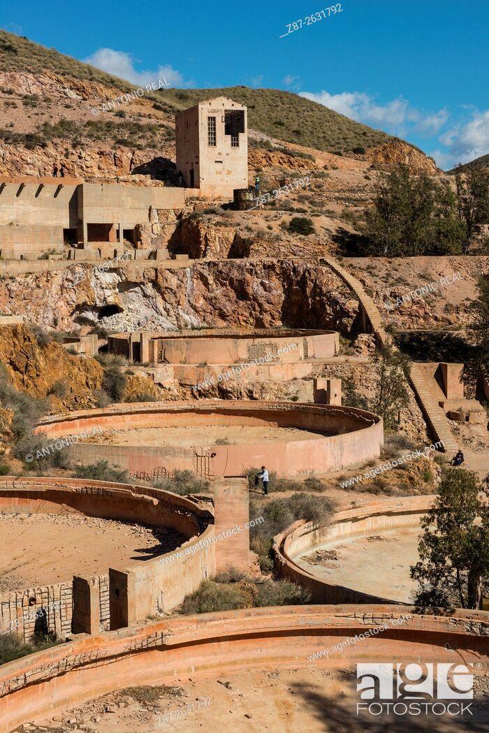 Stock Photo: Rodalquilar gold mines, Parque Natural del Cabo de Gata, Almeria province, Andalusia, Spain.