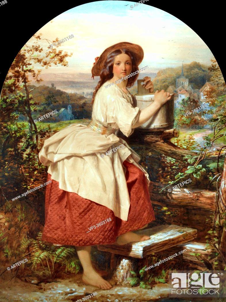 Imagen: Corbould Edward Henry - the Milkmaid - British School - 19th Century.