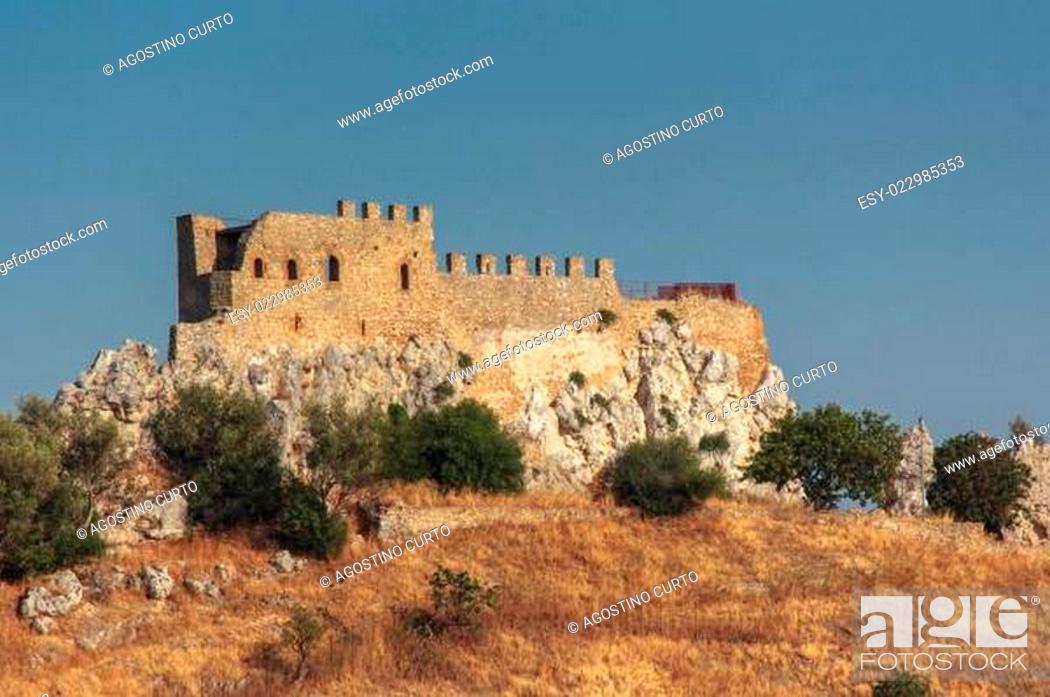 Stock Photo: Castle Delia in Sicily.