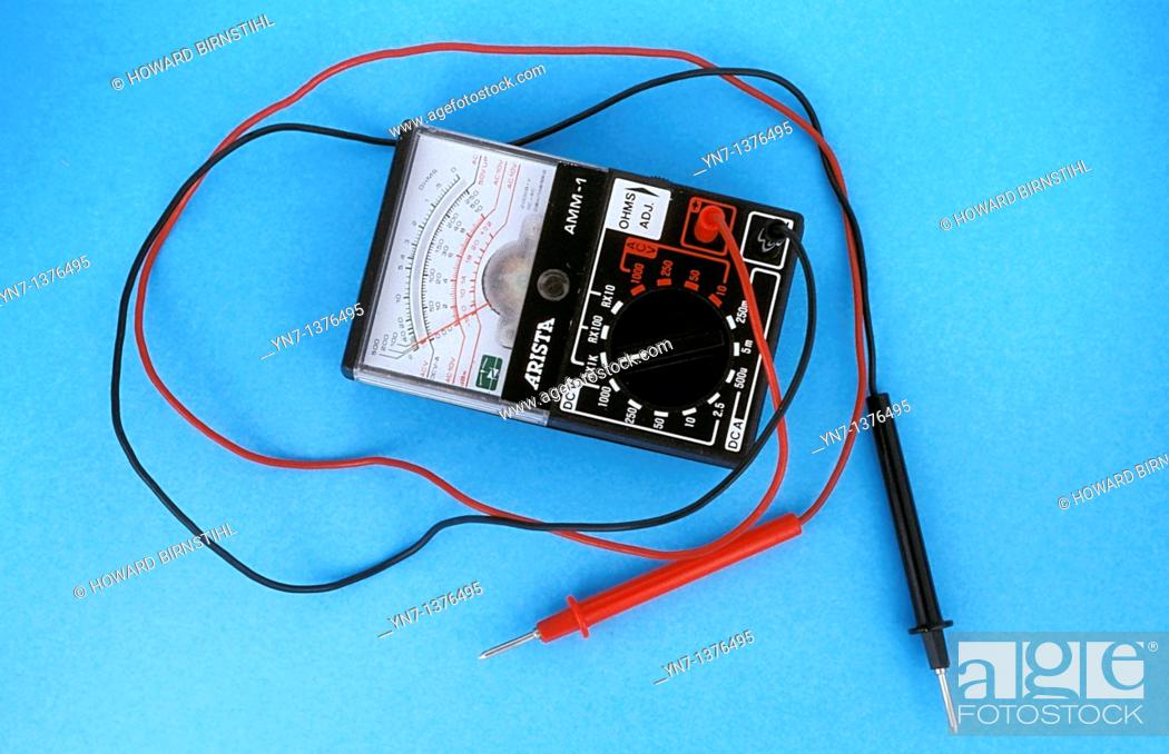 Stock Photo: close up product shopt of an ohmmeter.