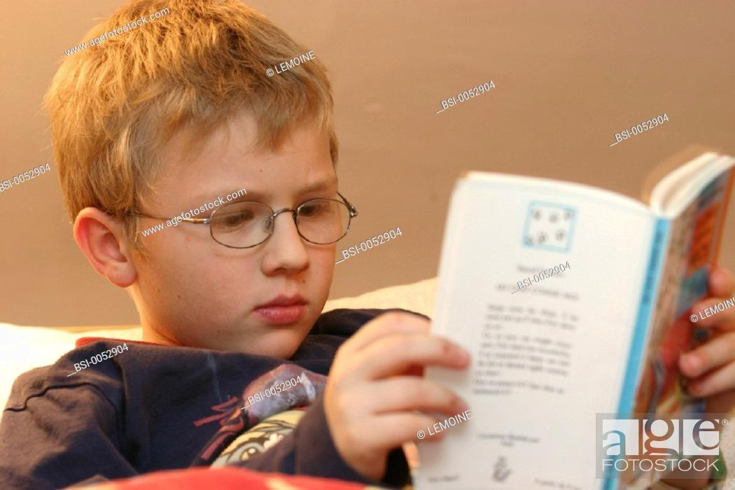 Stock Photo: CHILD READING<BR>Model.