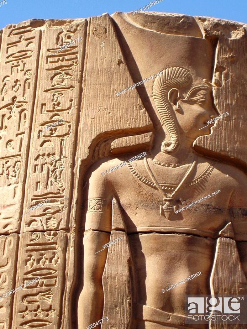 Stock Photo: Pillar at Kom Ombo, Egypt.