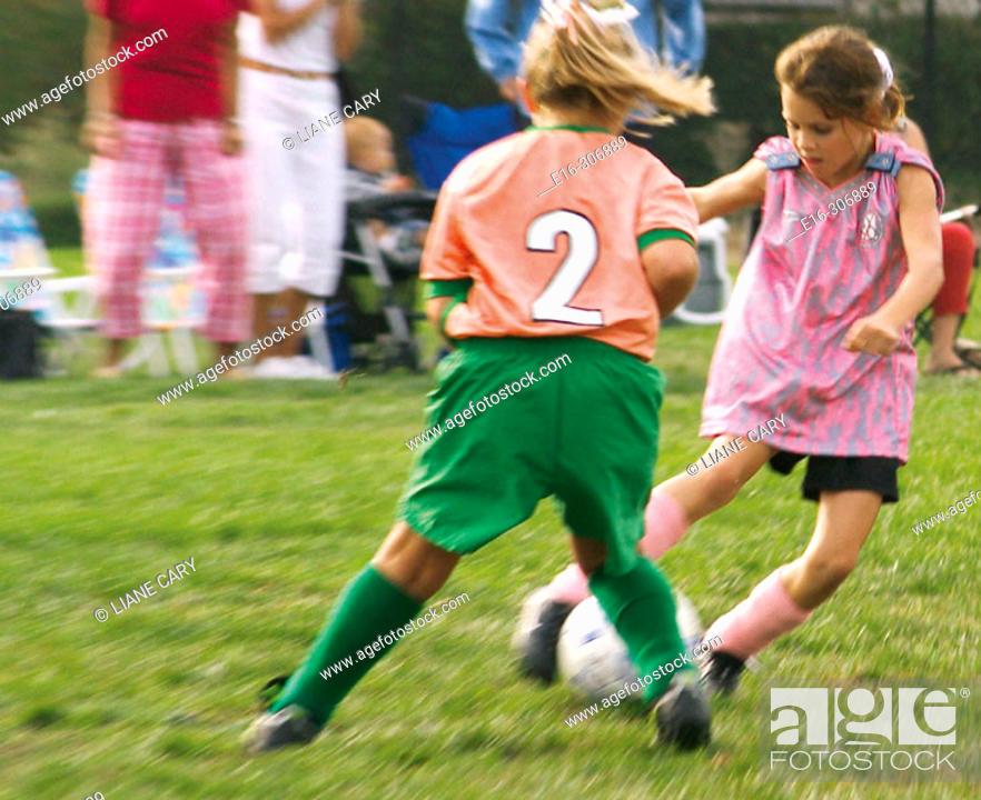 Stock Photo: girl's soccer.