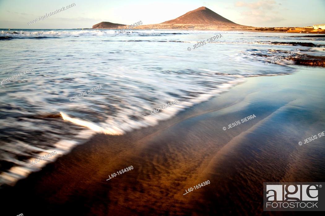 Stock Photo: Waves in Médano Beach, Tenerife, Canary Islands, Spain.