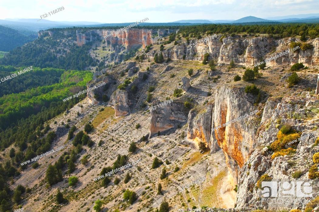 Photo de stock: La Galiana viewpoint, Cañón del Río Lobos Natural Park, Soria province, Castilla-Leon, Spain.