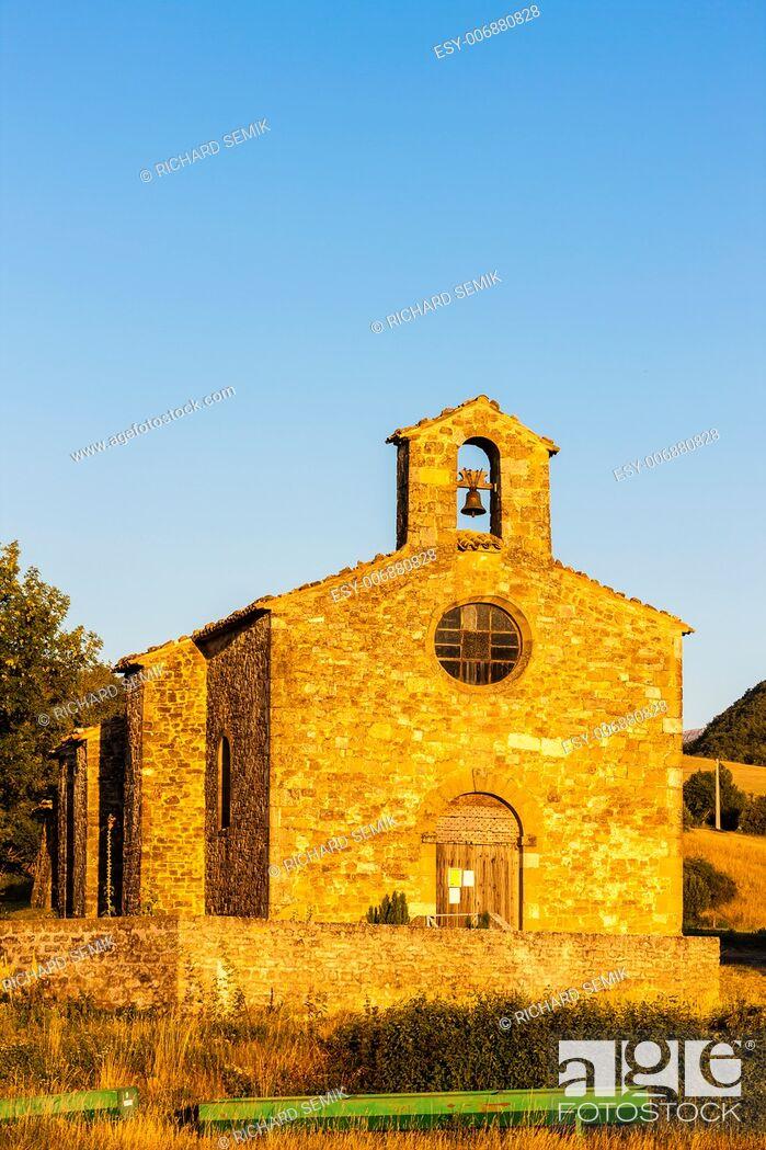 Stock Photo: Chapel St. Jean de Crupies, Rhone-Alpes, France.