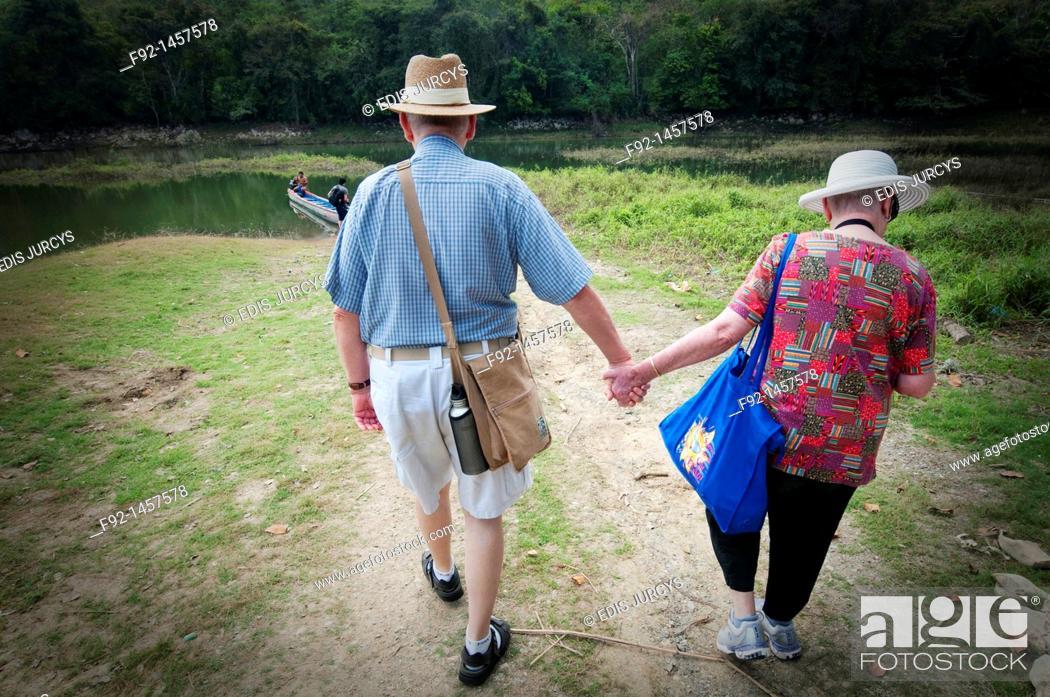 Stock Photo: Old couple.