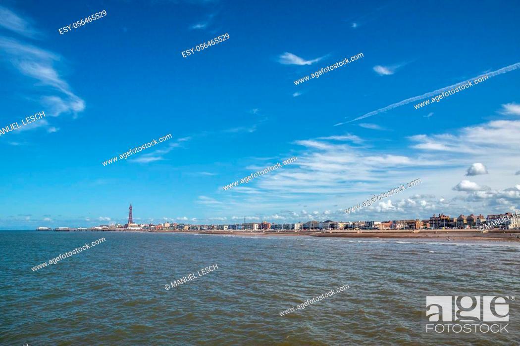 Stock Photo: Coast of Blackpool England in Summer.