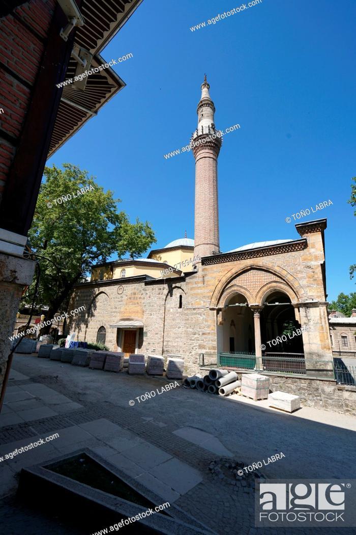 Stock Photo: Gazi Orhan Mosque (1339) early Ottoman style by architect Orhan Bey. Bursa. Turkey.