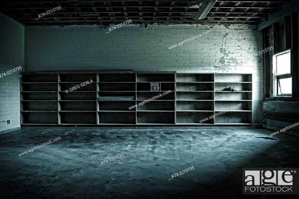 Stock Photo: abandoned school.