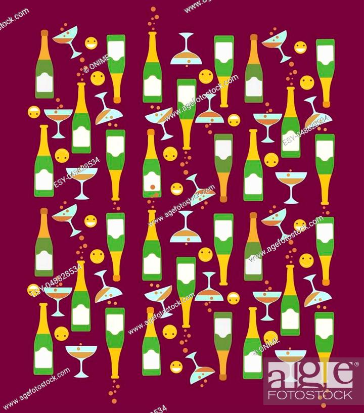 Stock Photo: illustration of a happy face icon party pattern theme.