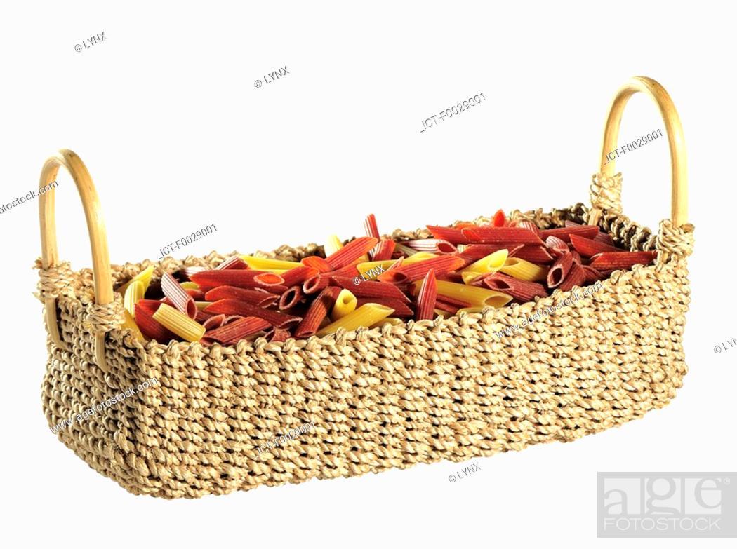 Stock Photo: World symbols: Pasta basket Italy.