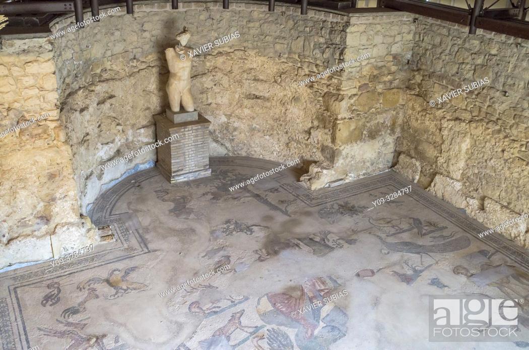 Stock Photo: Diaeta of Orpheus, Villa Romana del Casale, Piazza Armerina, Sicily, Italy.