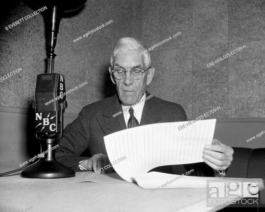 Stock Photo Francis Townsend At NBC Microphones Ca 1939 After The 1935