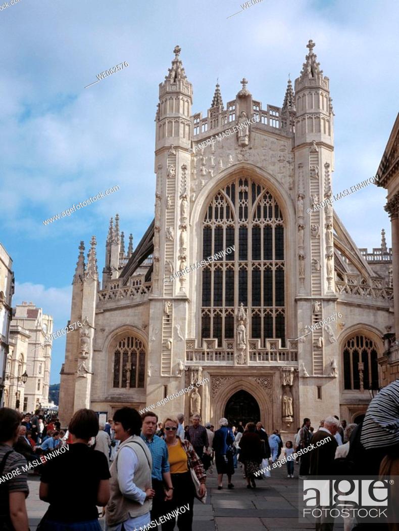 Stock Photo: Cathedral, Bath. England, UK.