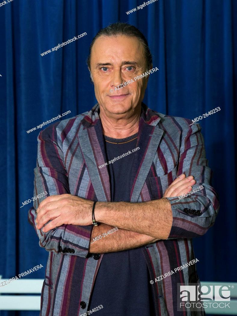 Italian singer Gianni Nazzaro (Giovanni Nazzaro) posing with folded ...