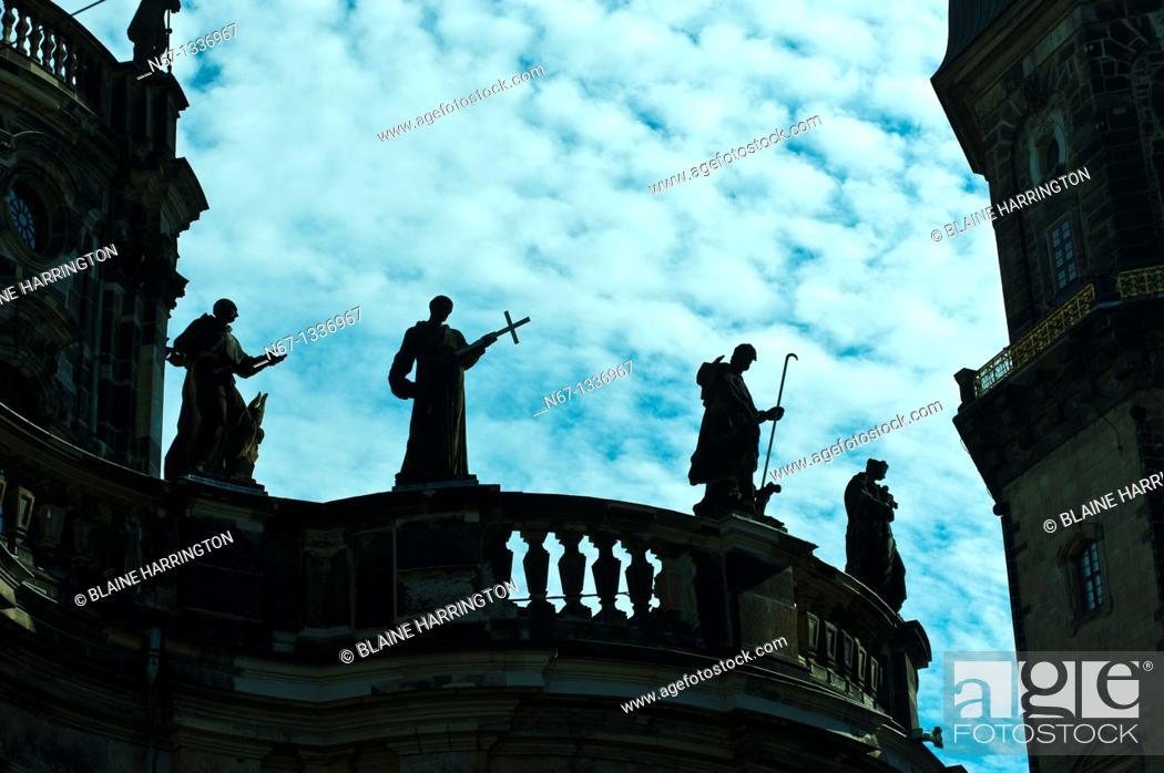Stock Photo: Hofkirche Dresden Cathedral, Dresden, Saxony, Germany.
