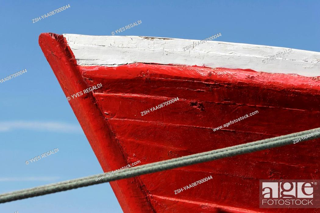 Stock Photo: Prow of boat, extreme close-up.