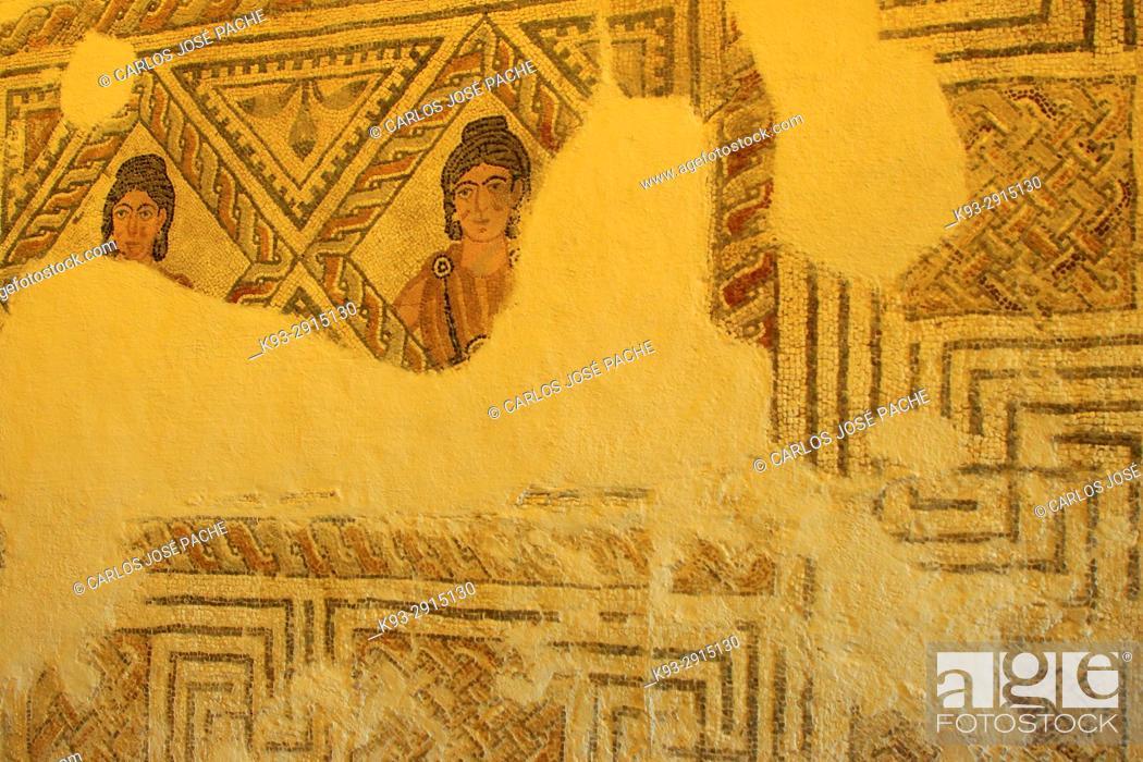 Imagen: Roman mosaic, 3rd century, Olivar del centeno (millanes de la mata). Cáceres, Extremadura, Spain.