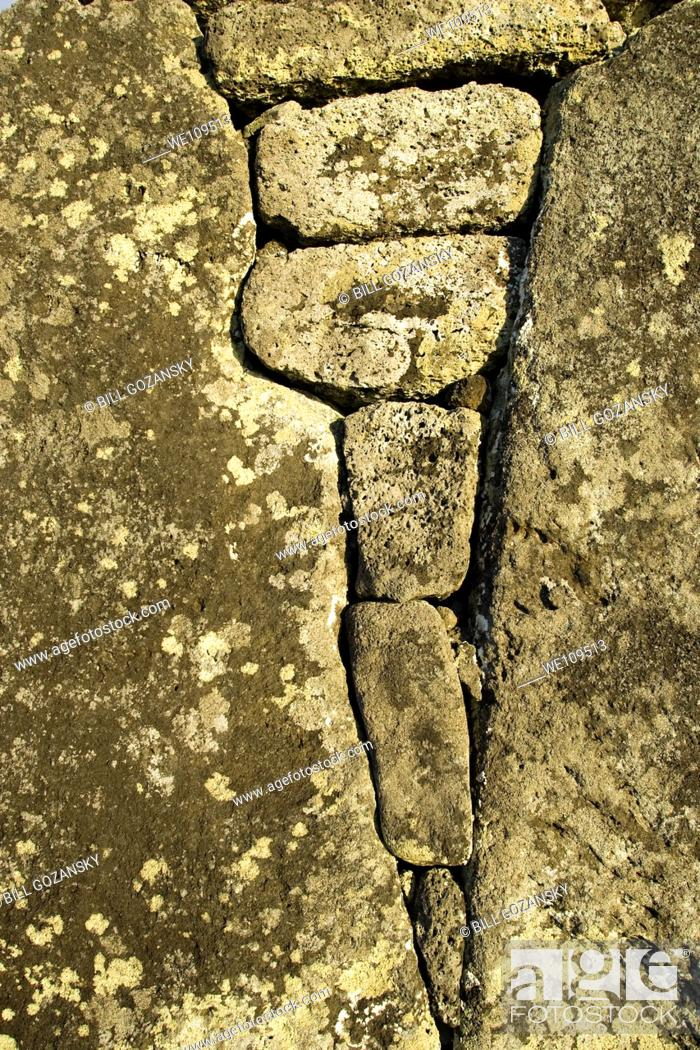 Stock Photo: Stonework on Easter Island, Chile.