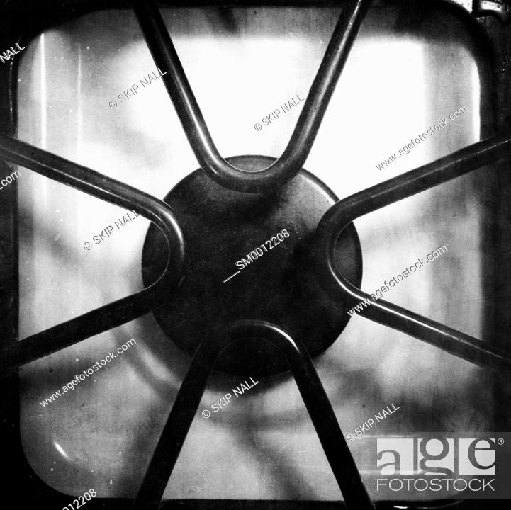 Stock Photo: Gas burner on a stove.