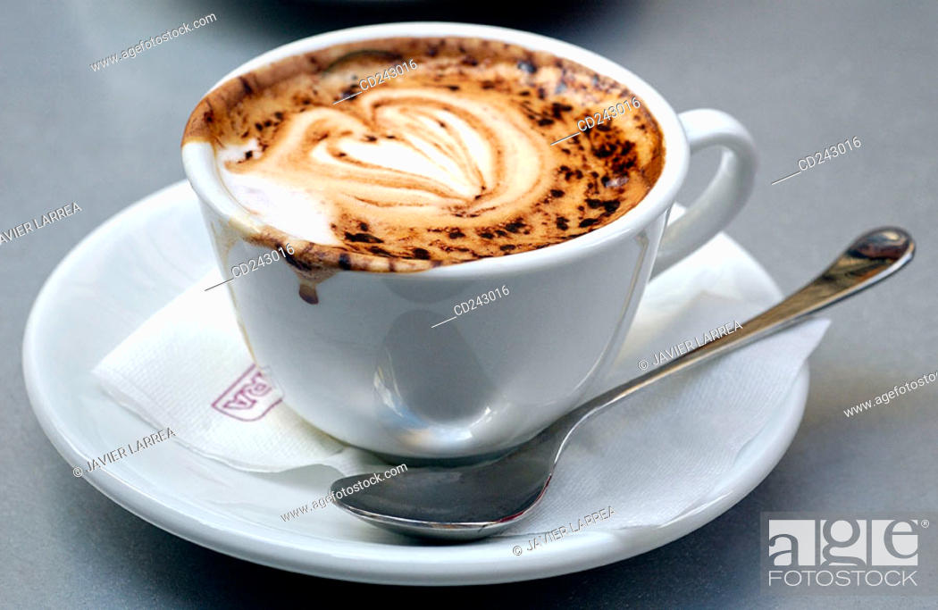Stock Photo: Capuccino. Florence. Tuscany, Italy.