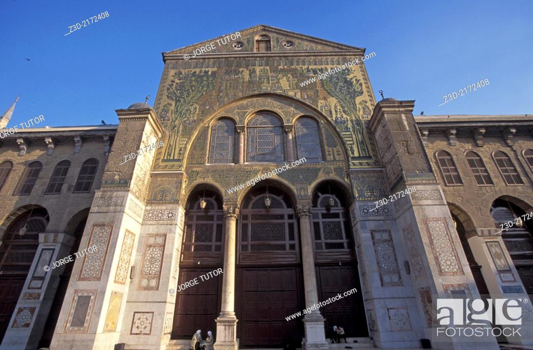 Mosaics in the Umayyad Mosque, also known as the Great