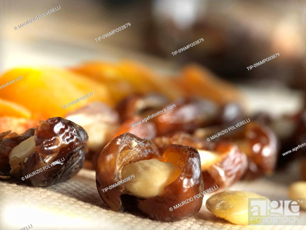 Stock Photo: Assortment of dried fruits.