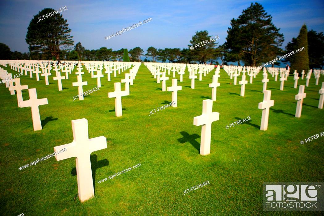 Stock Photo: France, Normandy, Colleville sur Mer, american cemetary.