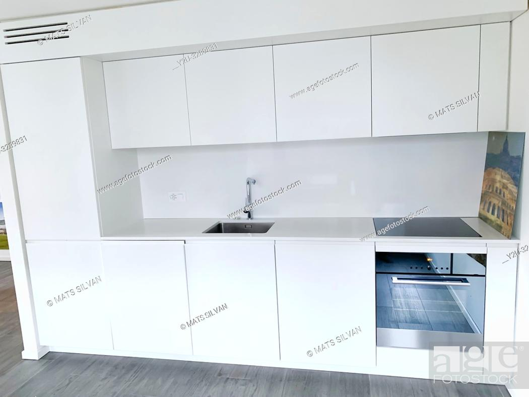 Stock Photo: Modern Kitchen in Switzerland.