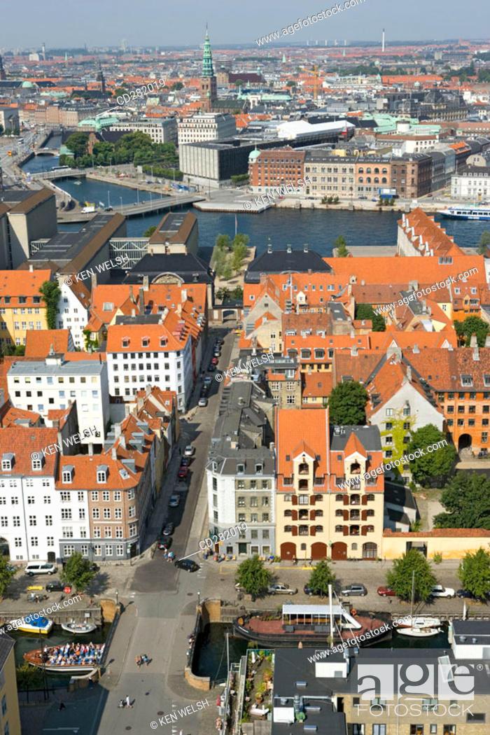 Stock Photo: Aerial view, Copenhagen, Denmark.