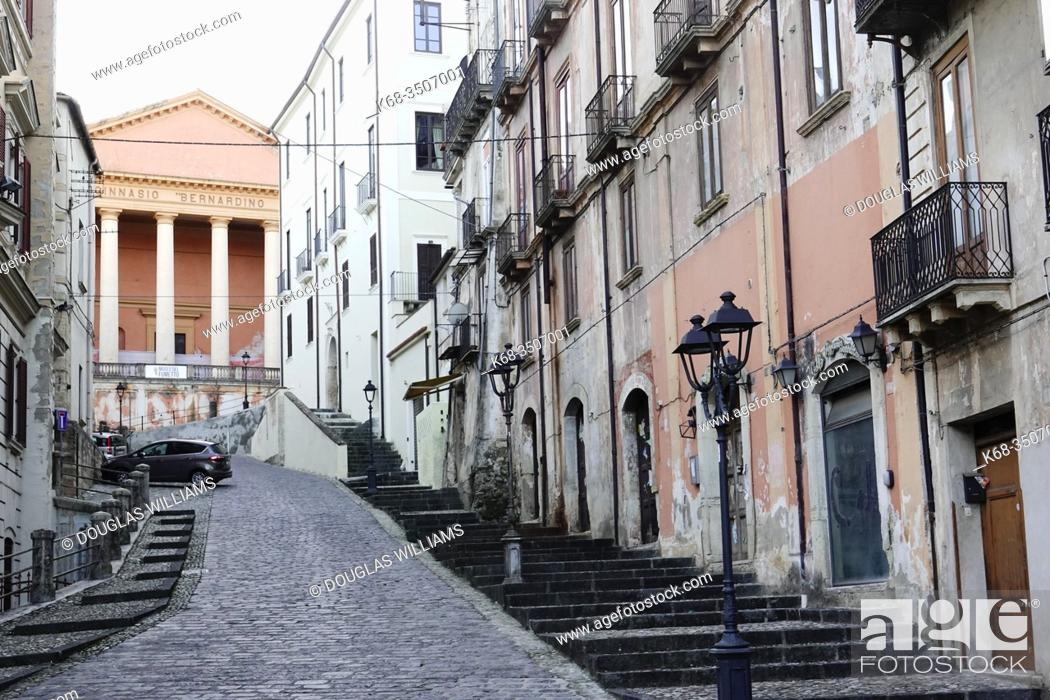 Photo de stock: A street in the old area of Cosenza, Italy.