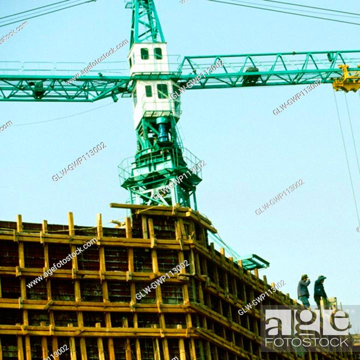 Stock Photo: Low angle view of an under construction building, Beijing, China.