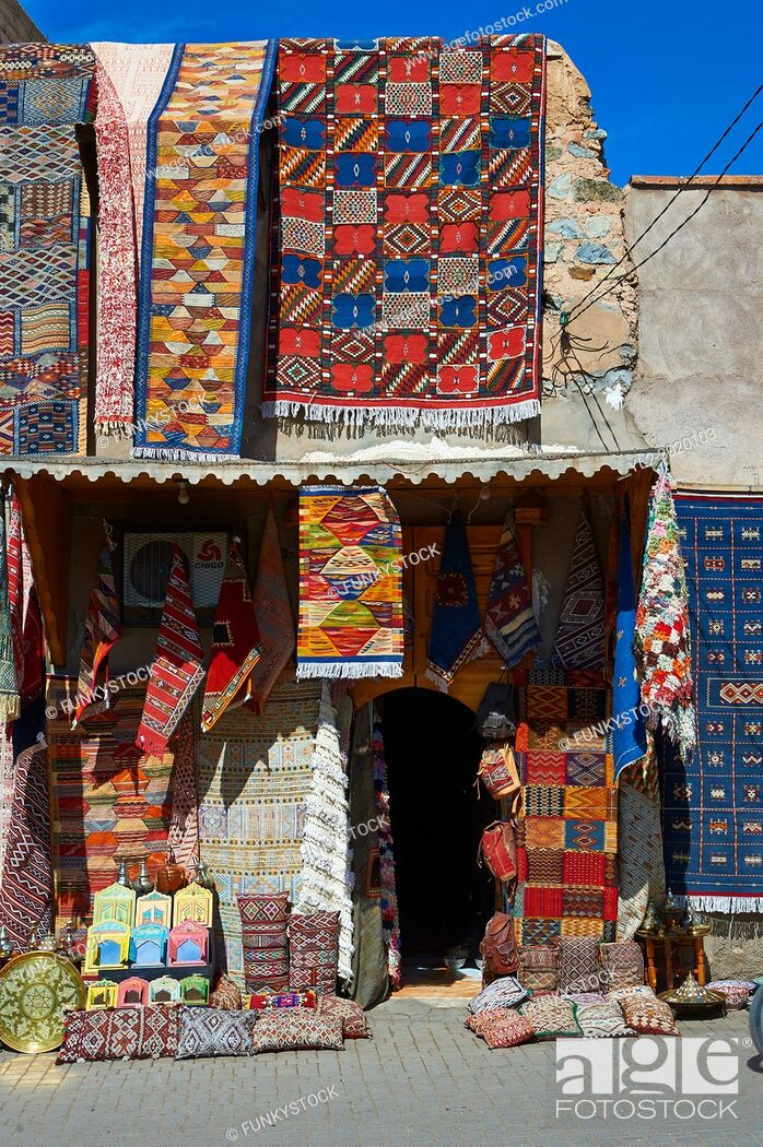 Stock Photo: Shops of the Medina Kasbah, Marrakesh, Morroco.