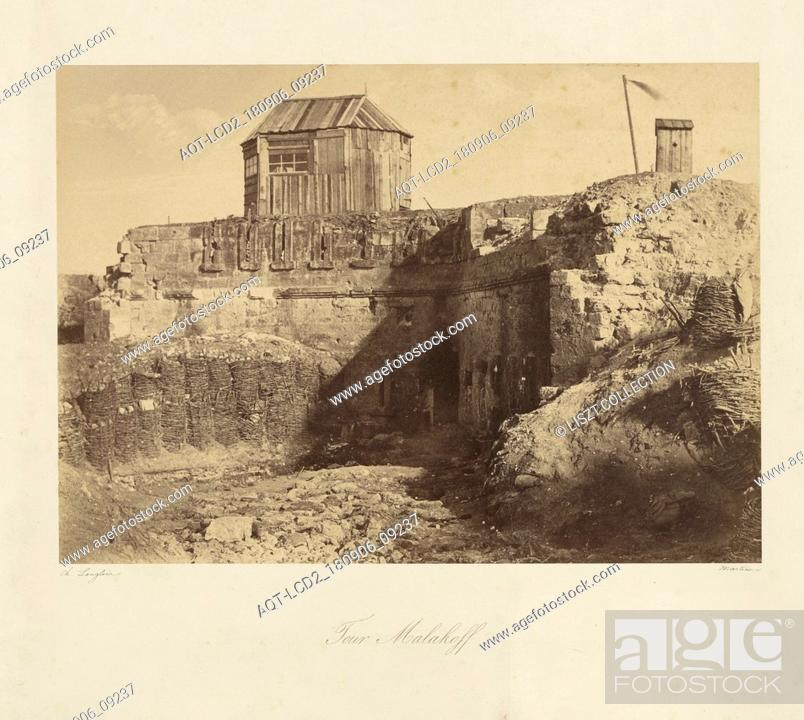 Stock Photo: Malakoff Tower (Tour Malakoff); Jean-Charles Langlois (French, 1789 - 1870); 1855; Salted paper print; 22.5 x 31.8 cm (8 7, 8 x 12 1, 2 in.).