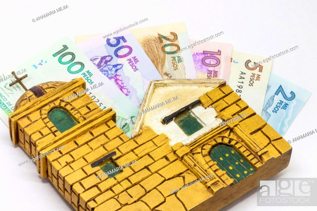 Stock Photo: Conceptual image about money and religion.