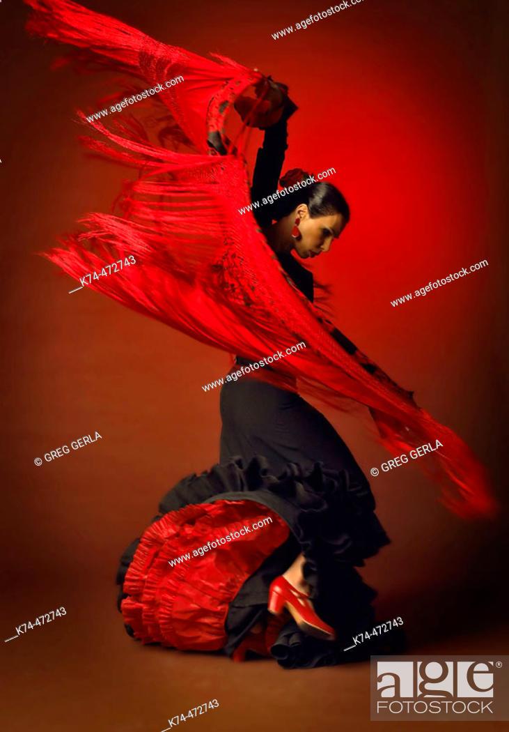 Stock Photo: Female Flamenco Dancer.