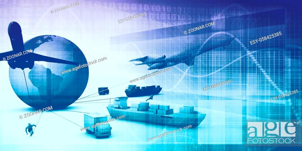 Stock Photo: Supply Chain Analytics Software Company as a Concept.
