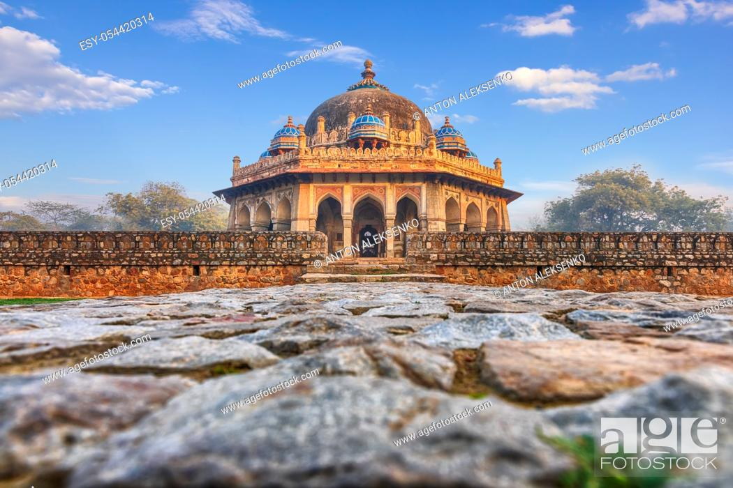Stock Photo: Isa Khan's Tomb near the Humayun's Tomb in India, New Dehli.