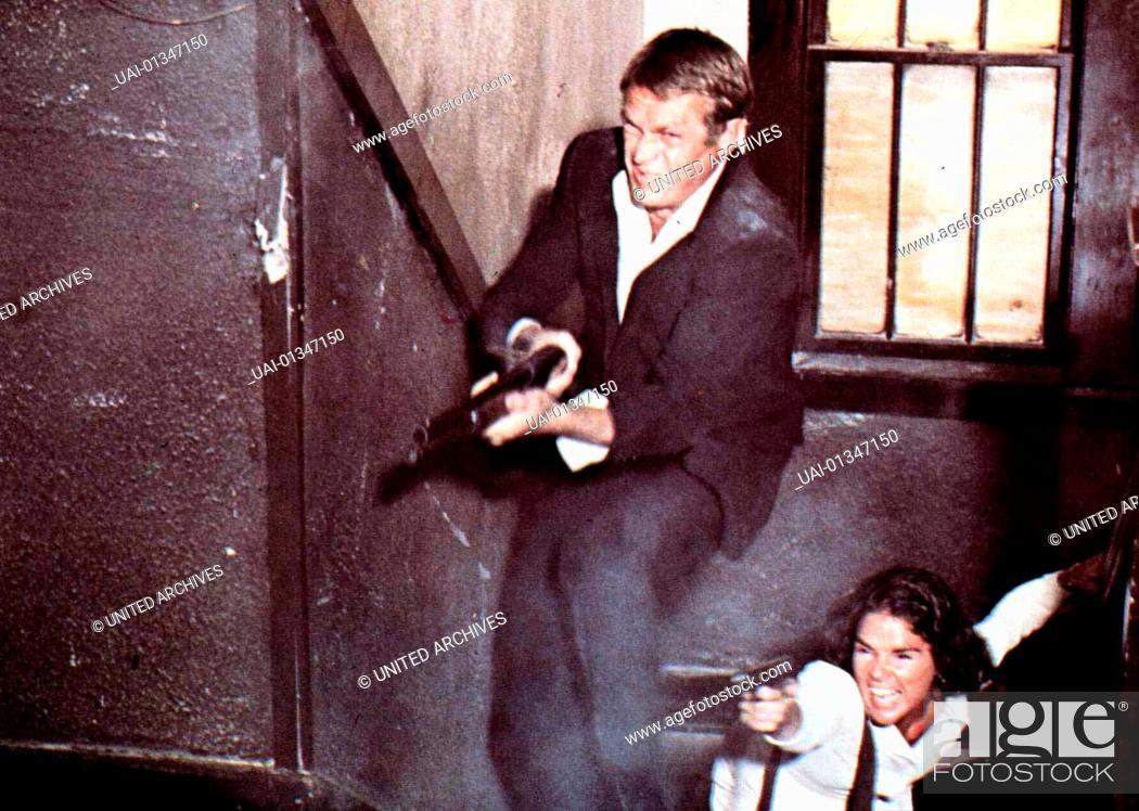 Stock Photo: Getaway, Getaway, The, Getaway, Getaway, The, Steve McQueen, Ali McGraw Auch bei dem Bankueberfall ist Carol (Ali McGraw) an der Seite von Doc McCoy (Steve.