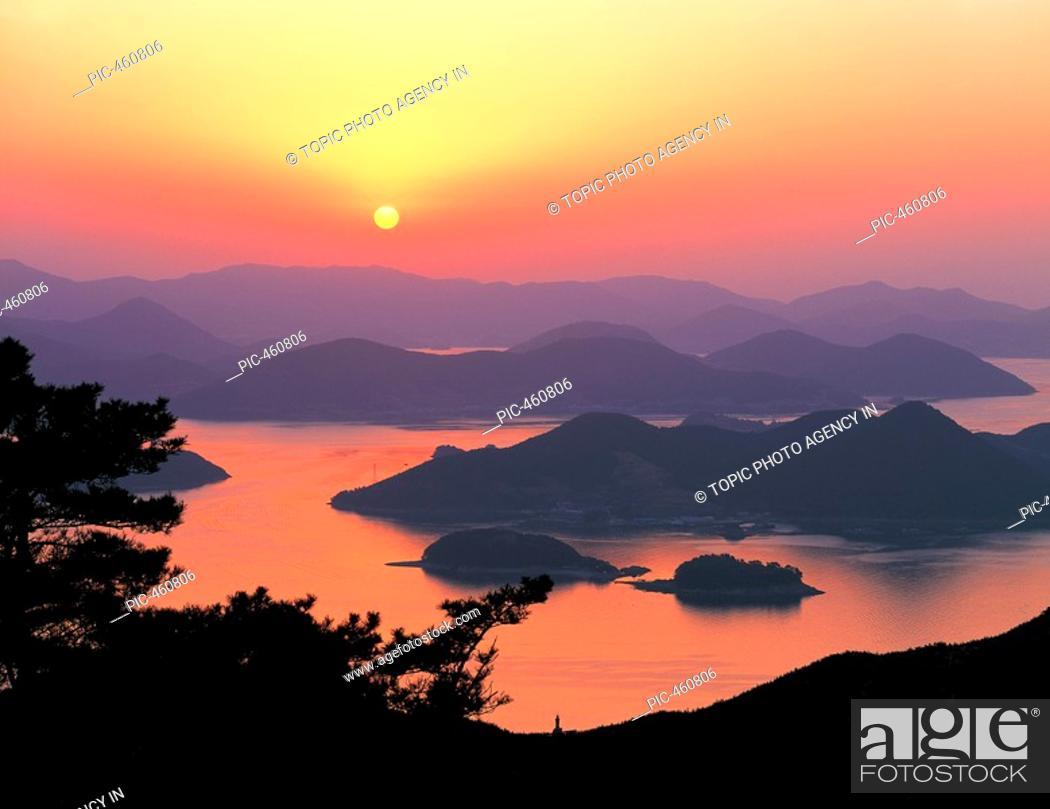 Stock Photo: Mt  Mireuksan,Gyeongnam,Korea.