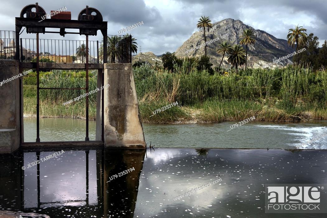 Stock Photo: Abandonned hydroelectric plant. Ulea, Villanueva, Archena, Murcia, España, .