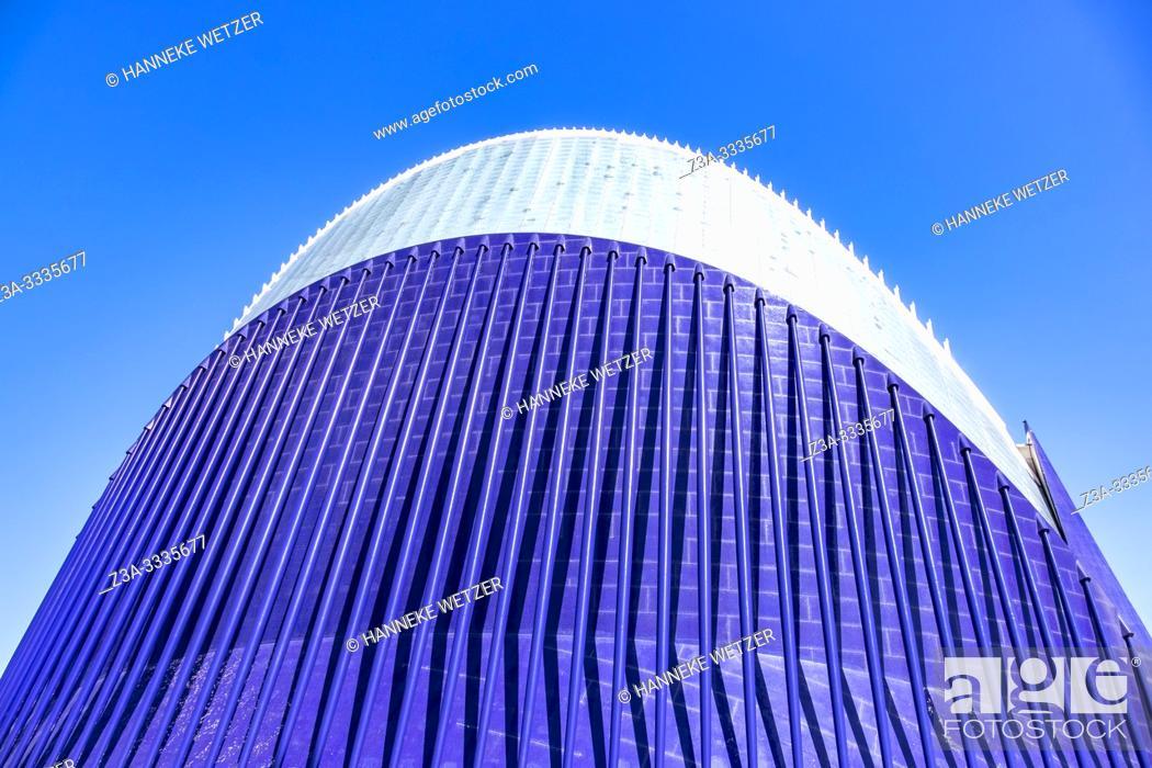 Stock Photo: Agora, City of Arts and Science, Ciudad de las artes y las ciencias, in Valencia, Spain, Europe.