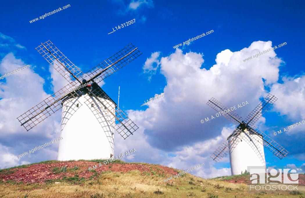 Stock Photo: Windmills. Alcázar de San Juan. Ciudad Real province. Spain.