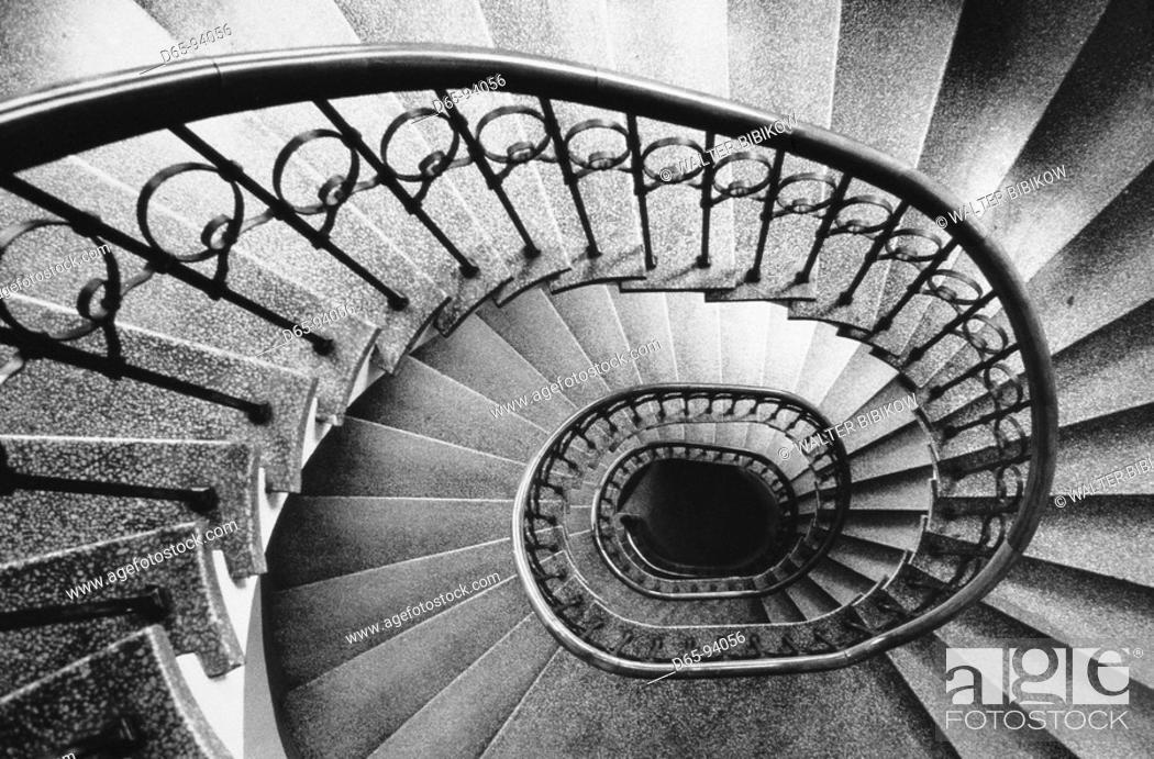 Stock Photo: Spiral staircase, Helsinki. Finland.