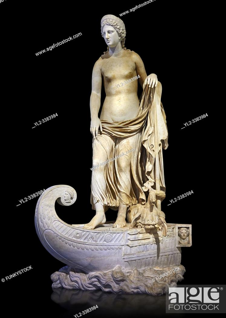 Stock Photo: Statue of Thetsis - a 2nd century AD Roman statue found in the city of Lavinia, Italy. Thetis, Ancient Greek: is encountered in Greek mythology mostly as a sea.