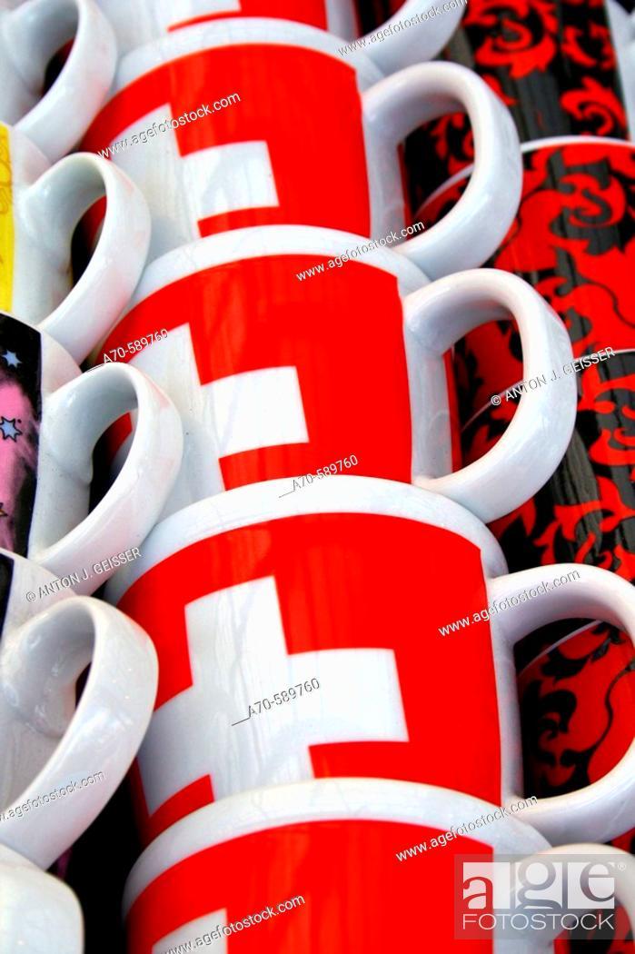 Stock Photo: Mugs, Switzerland.