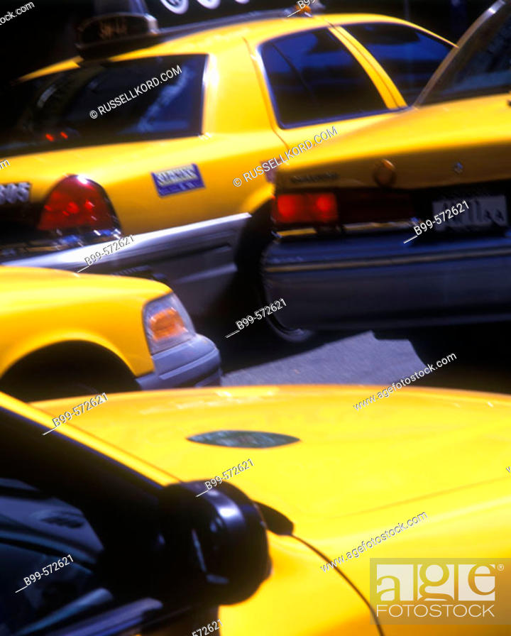 Stock Photo: Taxi Cabs, Times Square, Manhattan, New York, USA.