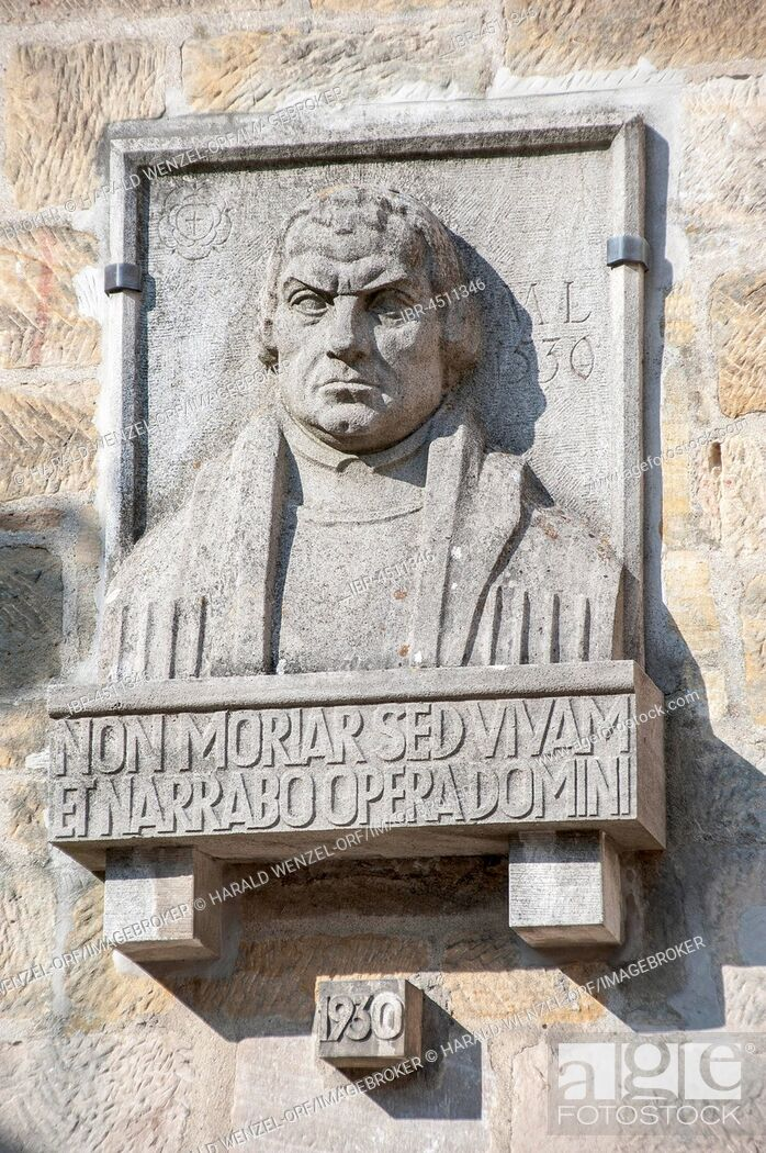 Imagen: Relief at the Luther Chapel, Martin Luther, Veste Coburg, Coburg District, Bavaria, Germany.